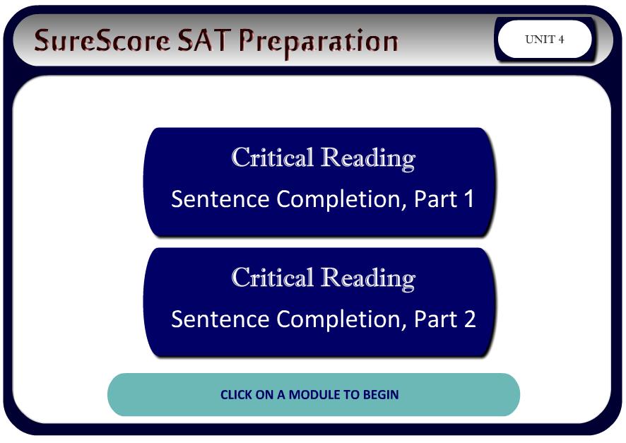 SureScore Modular Course System
