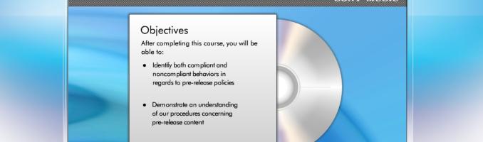 Sony Music Objectives